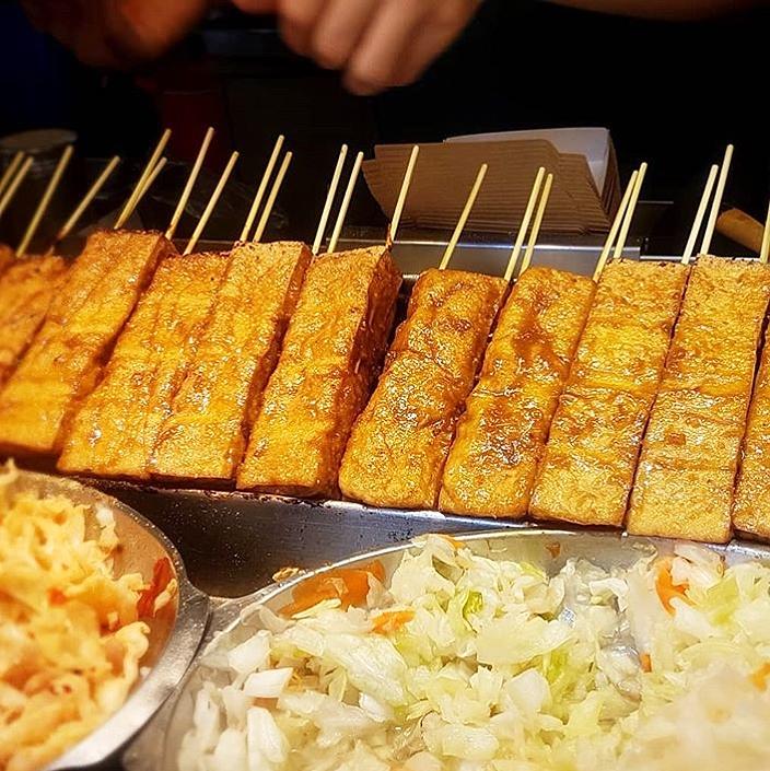 烤臭豆腐(焼き臭豆腐)