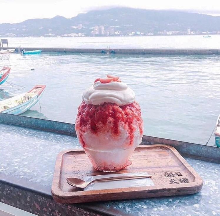 淡水のカフェでかき氷