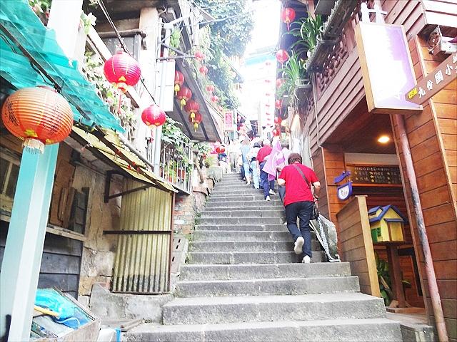 台湾九份の入り口にある階段