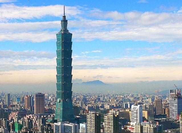 台北の「台北101」定番観光スポットです