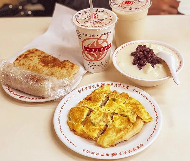 台湾の朝ご飯1