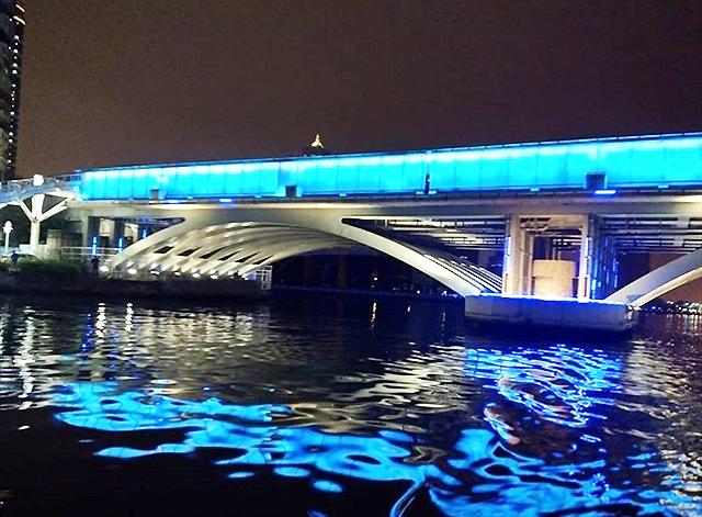 「愛の船」夜の景色2