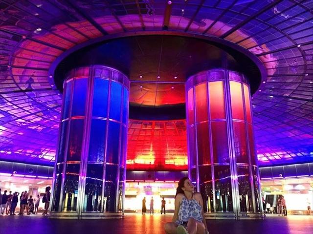 台湾高雄「美麗島駅」の光のドームショーの開催時間